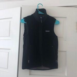 PATAGONIA women's XS black fleece vest